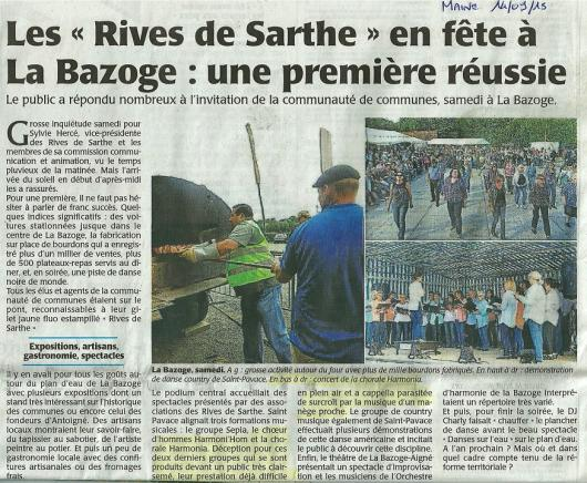 Sept 2015 ml fete des rives de sarthe