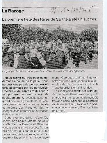 Sept 2015 of fete des rives de sarthe