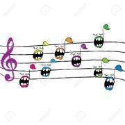 Notes de musique dessin anime fond plein elements vectoriels