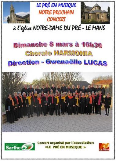 Prochain concert 8 mars harmonia