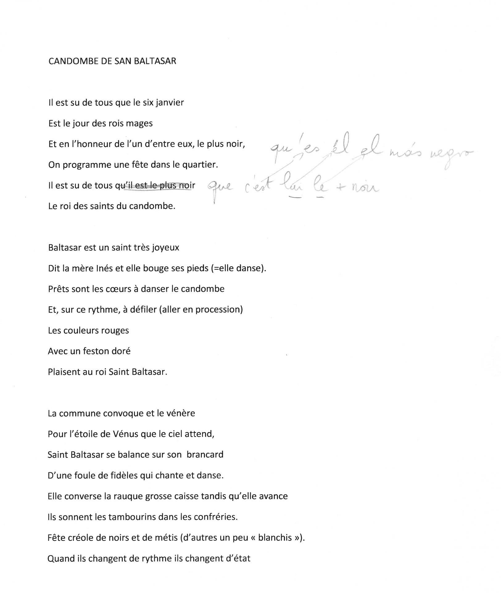 Traduction canto